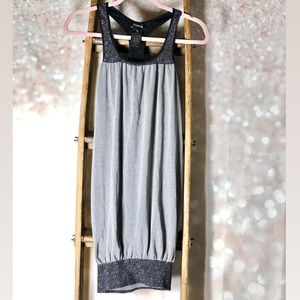 BEBE Silver Black Sparkle Dress